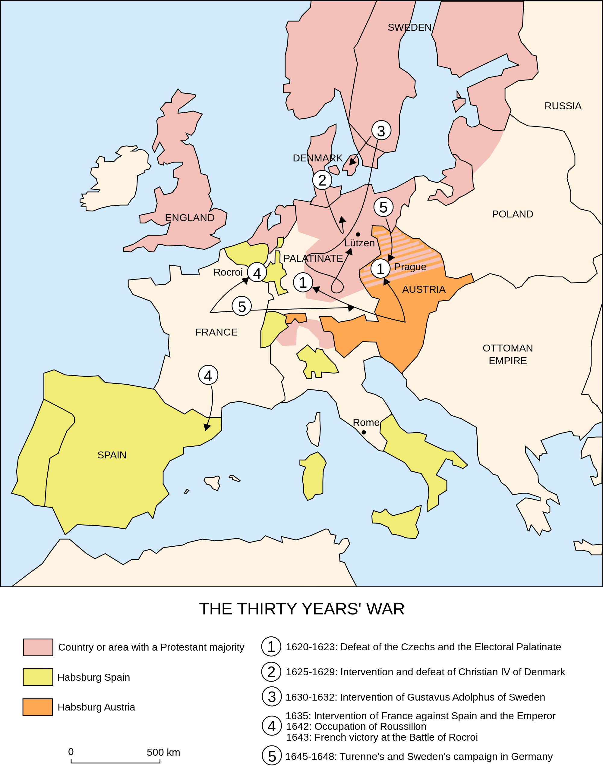 MAP OF THIRTY YEARS WAR The Thirty Years War Began - Map germany thirty years war