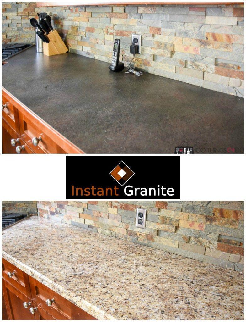 Instant Granite Updating Your Kitchen Kitchen Counter Makeover Budget Kitchen Makeover Countertop Vi Instant Granite Countertop Makeover Countertop Remodel