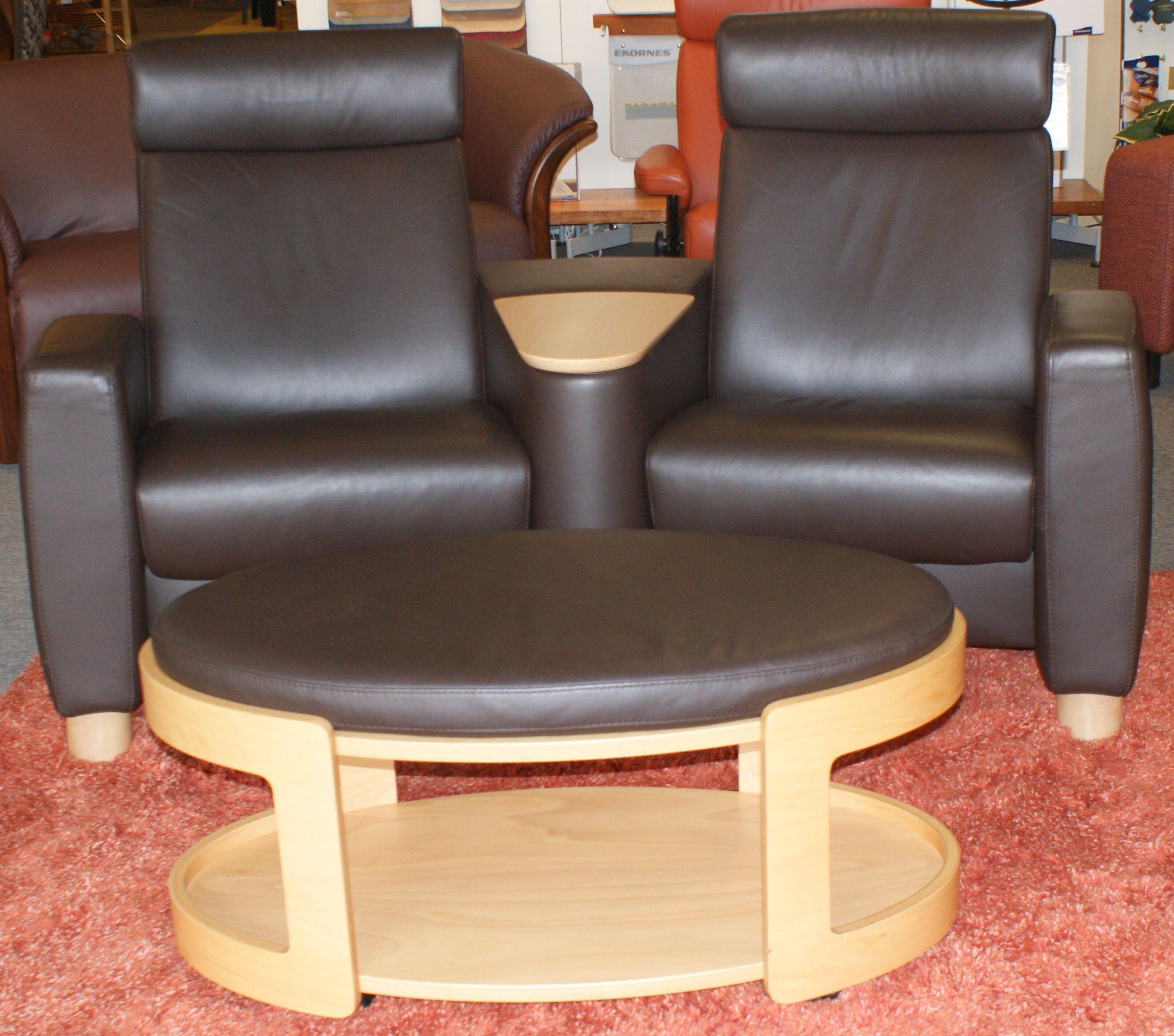 Stressless Arion Home Theater Seating With Oval Ottoman Paloma