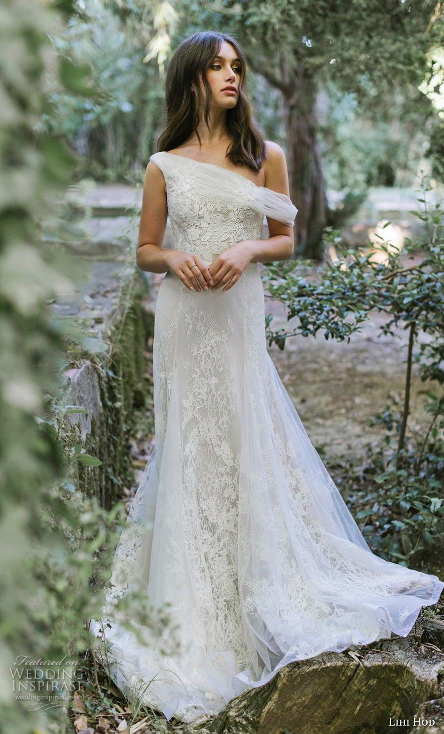 0b5e6bc9907 lihi hod 2019 bridal sleeveless one shoulder full embellishment romantic a  line wedding dress covered back