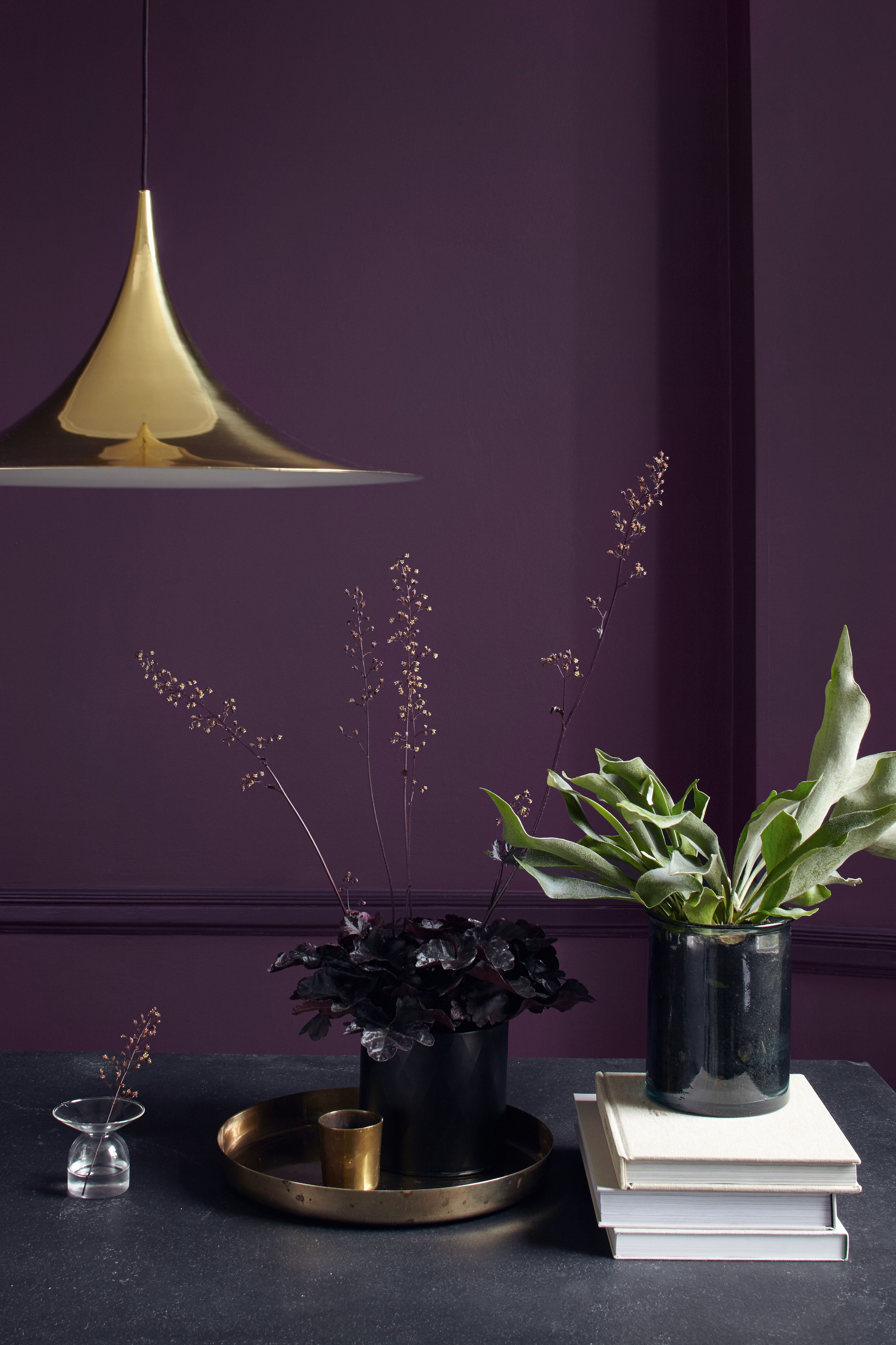 Find Interior Design Ideas For All The Rooms Of Your Home And Get Inspired By Some Of The 2018 Trend Room Wall Colors Purple Living Room Living Room Wall Color