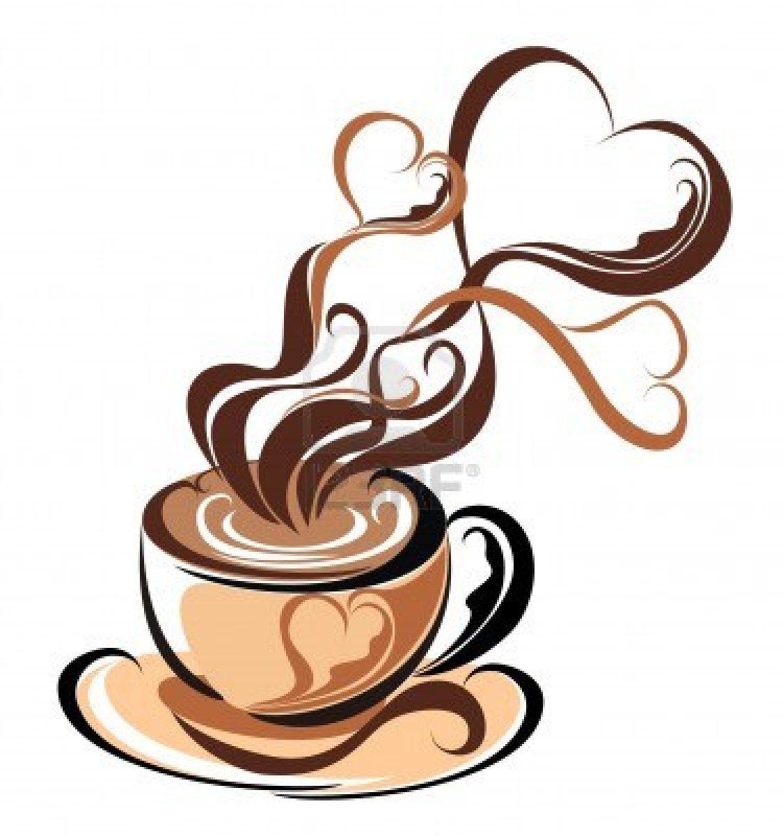 Stock Vector Coffee artwork, Coffee cup art, Coffee heart