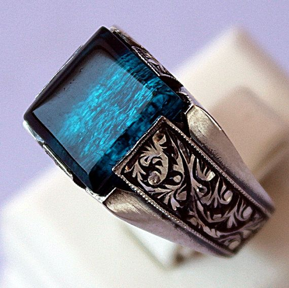 Sterling Silver Men Ring Mens Fashion Rings Rings For Men Jewelry