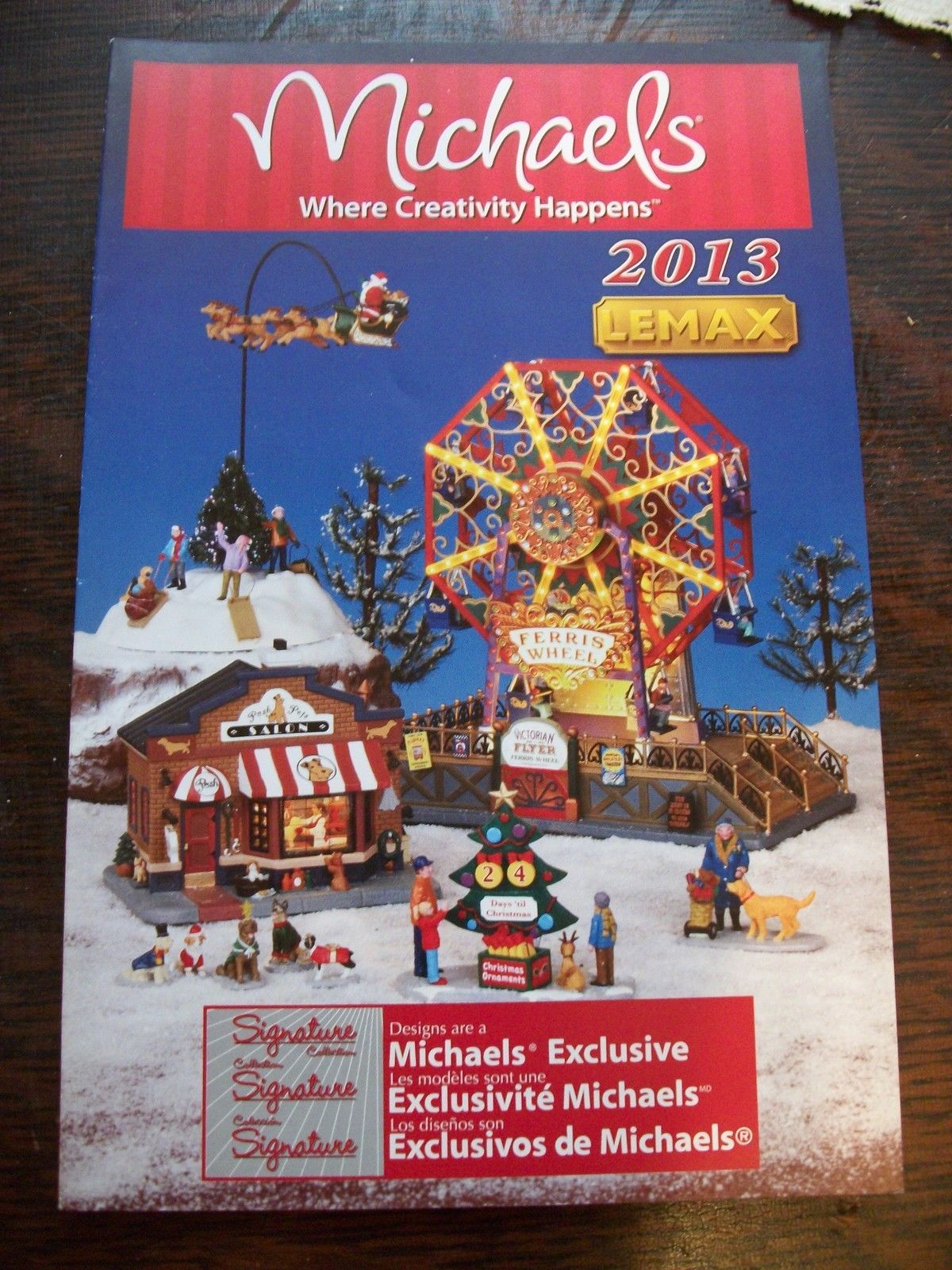 lemax michaels christmas village 2013 product brochure catalog ebay michael christmas product brochure - Christmas Village Sets Michaels