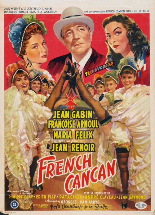 """Résultat de recherche d'images pour """"french cancan jean renoir affiche"""""""