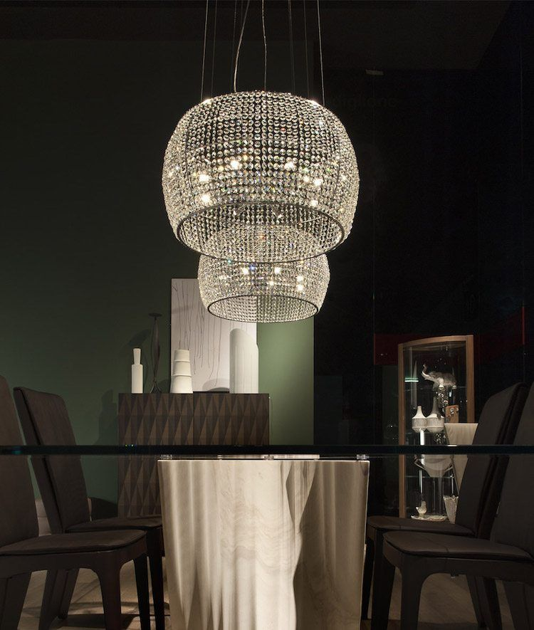 Lustre design italien super chic pour la salle à manger kidal via cattelan italia