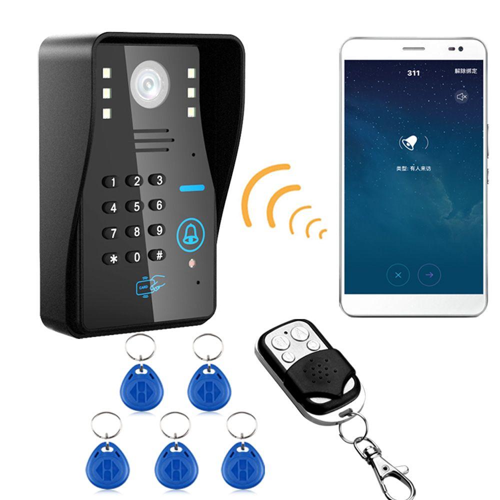 ワイヤレスip無線lan Rfidパスワードビデオドア電話ドアベル
