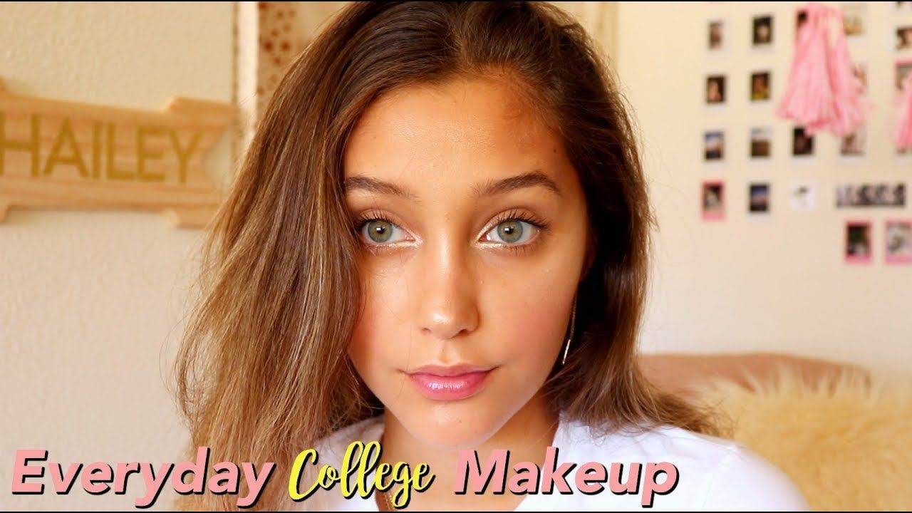 Everyday COLLEGE Makeup Routine HOW I GET THAT GLOW