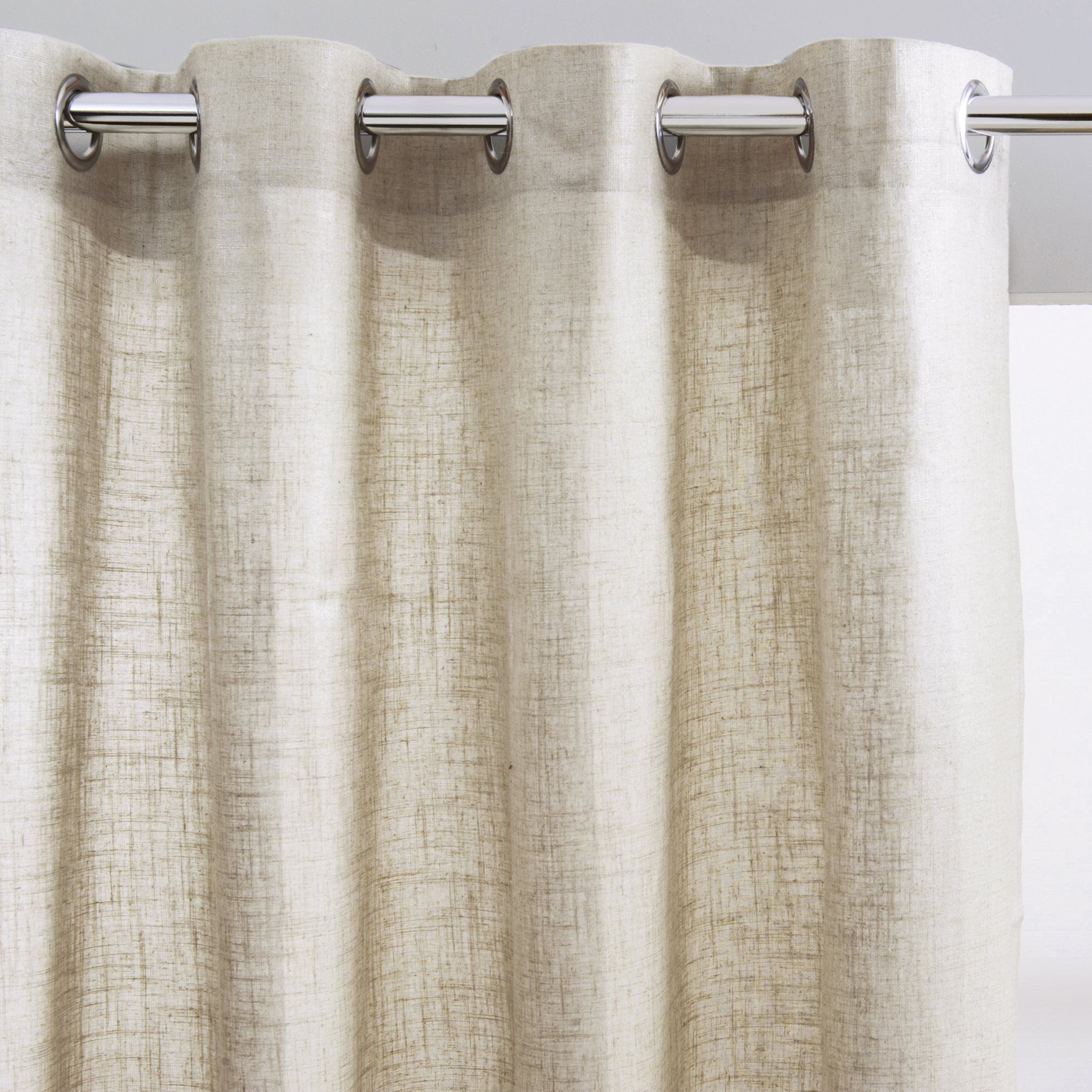 Brillance linen effect curtain with eyelets la redoute interieurs