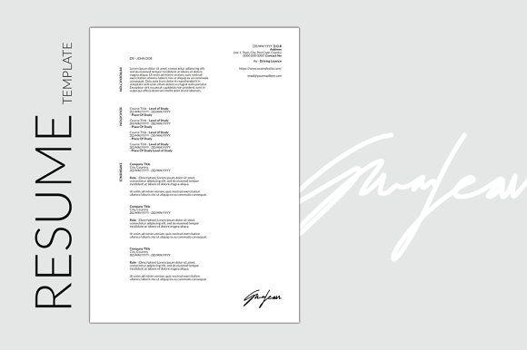 AF Design - CV/Resume @creativework247 Resume Templates