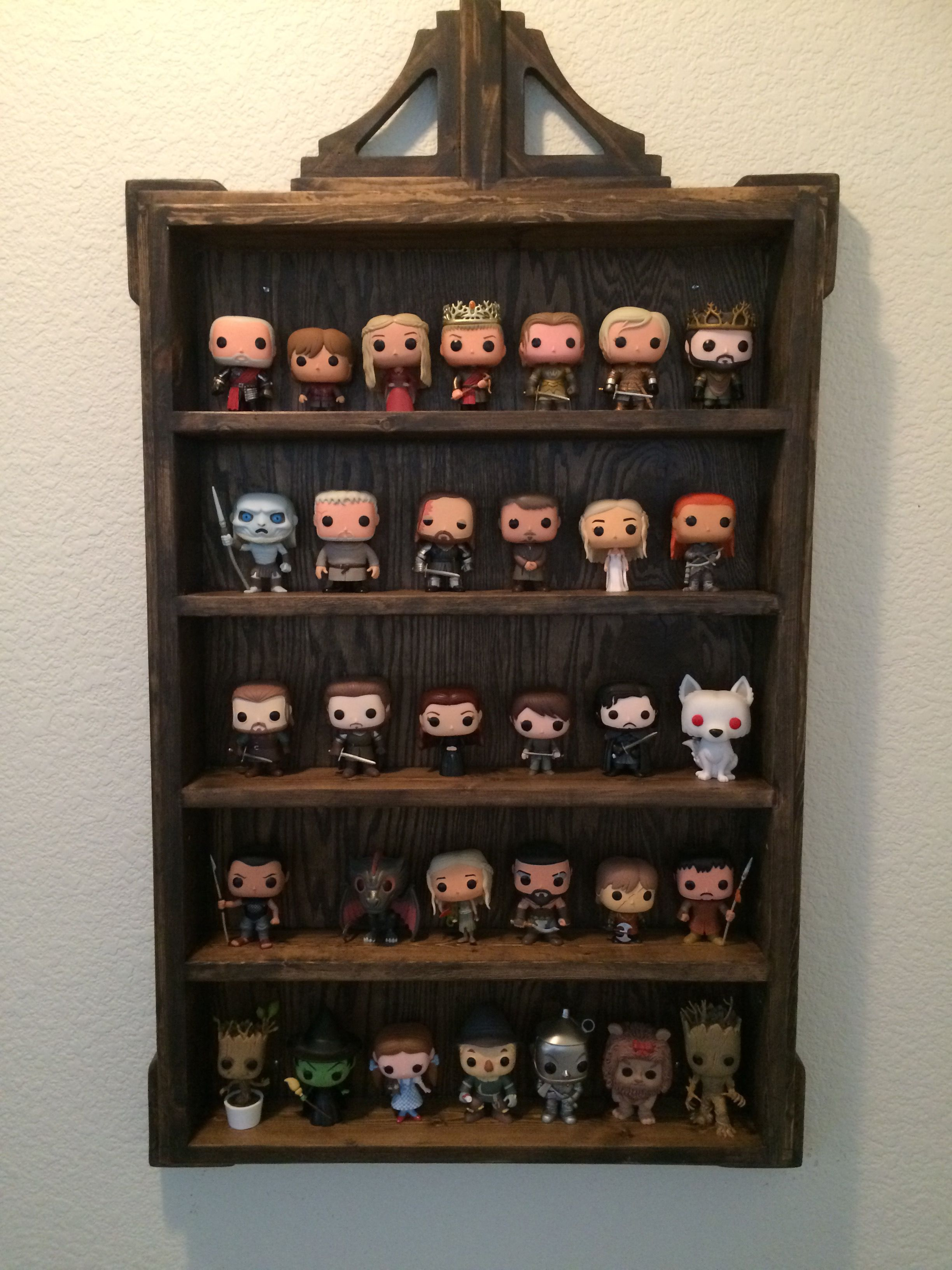 Wood display shelf for funko pop figures wood projects i for Bookshelf display ideas