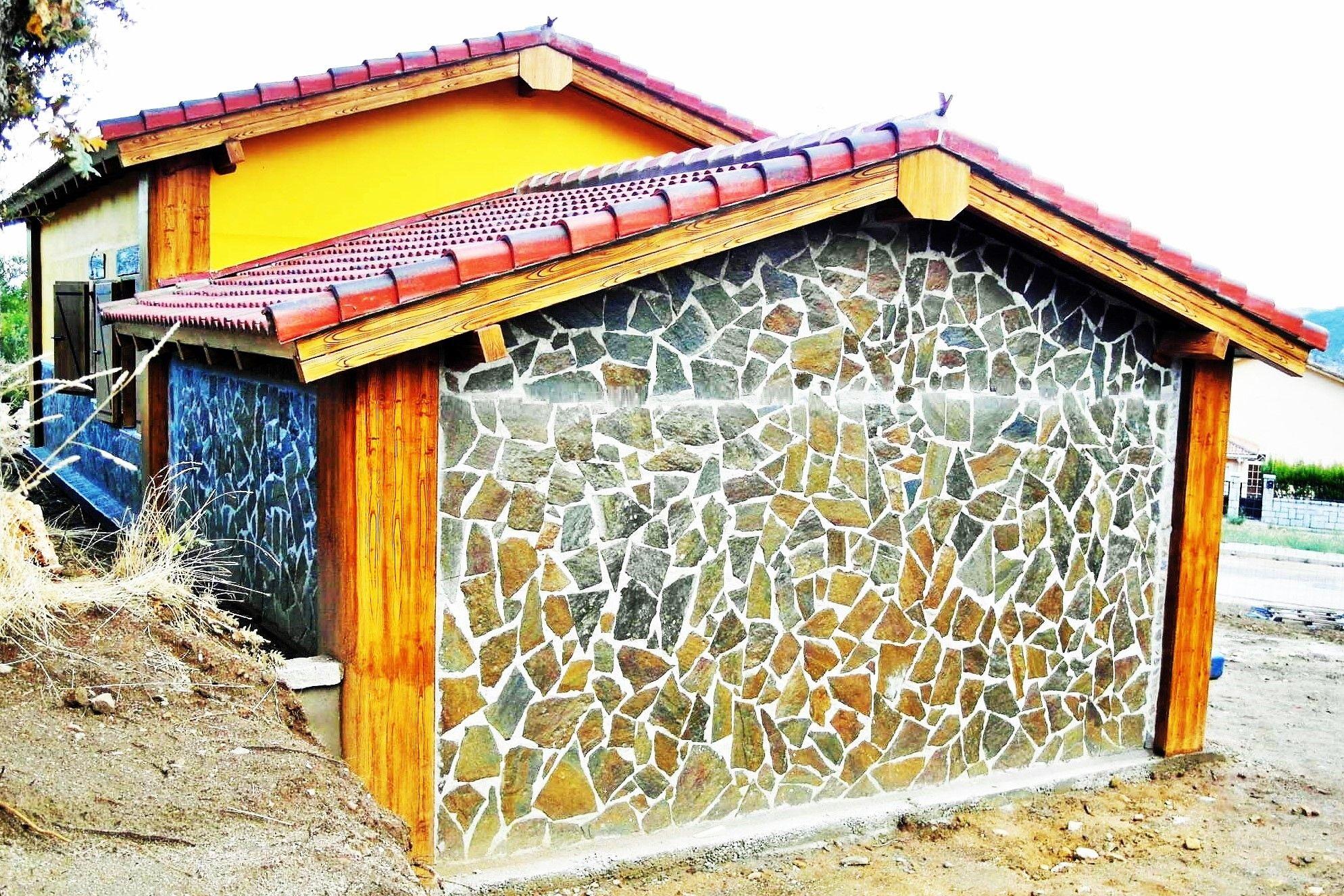 Garaje prefabricado de hormigon adosado a vivienda con - Viviendas de acero ...