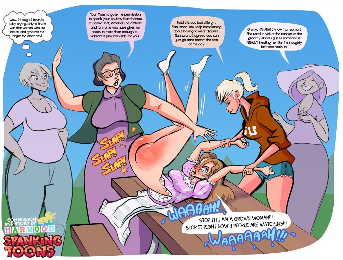 Shaved spanked princess comic