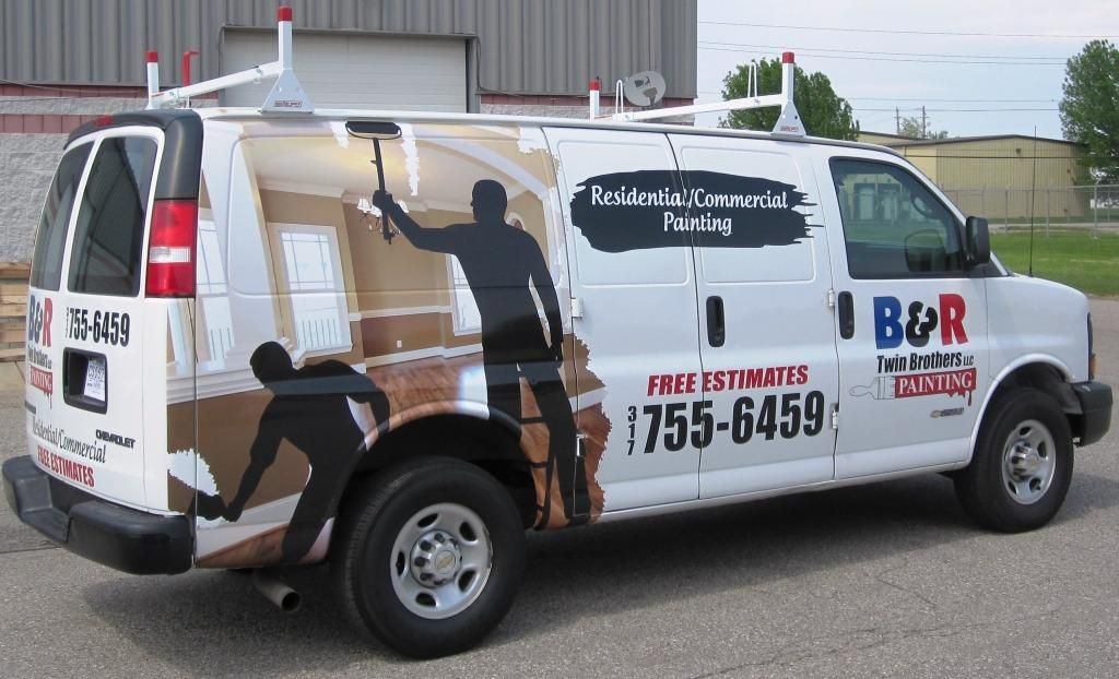 B R Twin Brothers Painting Van Wrap Van Graphics Vehicle - Decal graphics for carsvehicle graphics