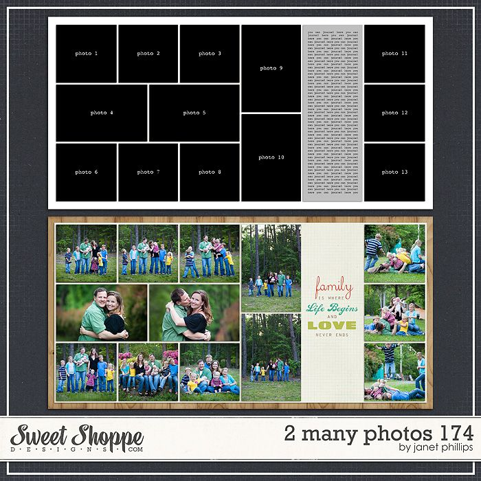 Sweet Shoppe Designs::2 Page Layout Templates::2 Many Photos 174 by Janet Phillips