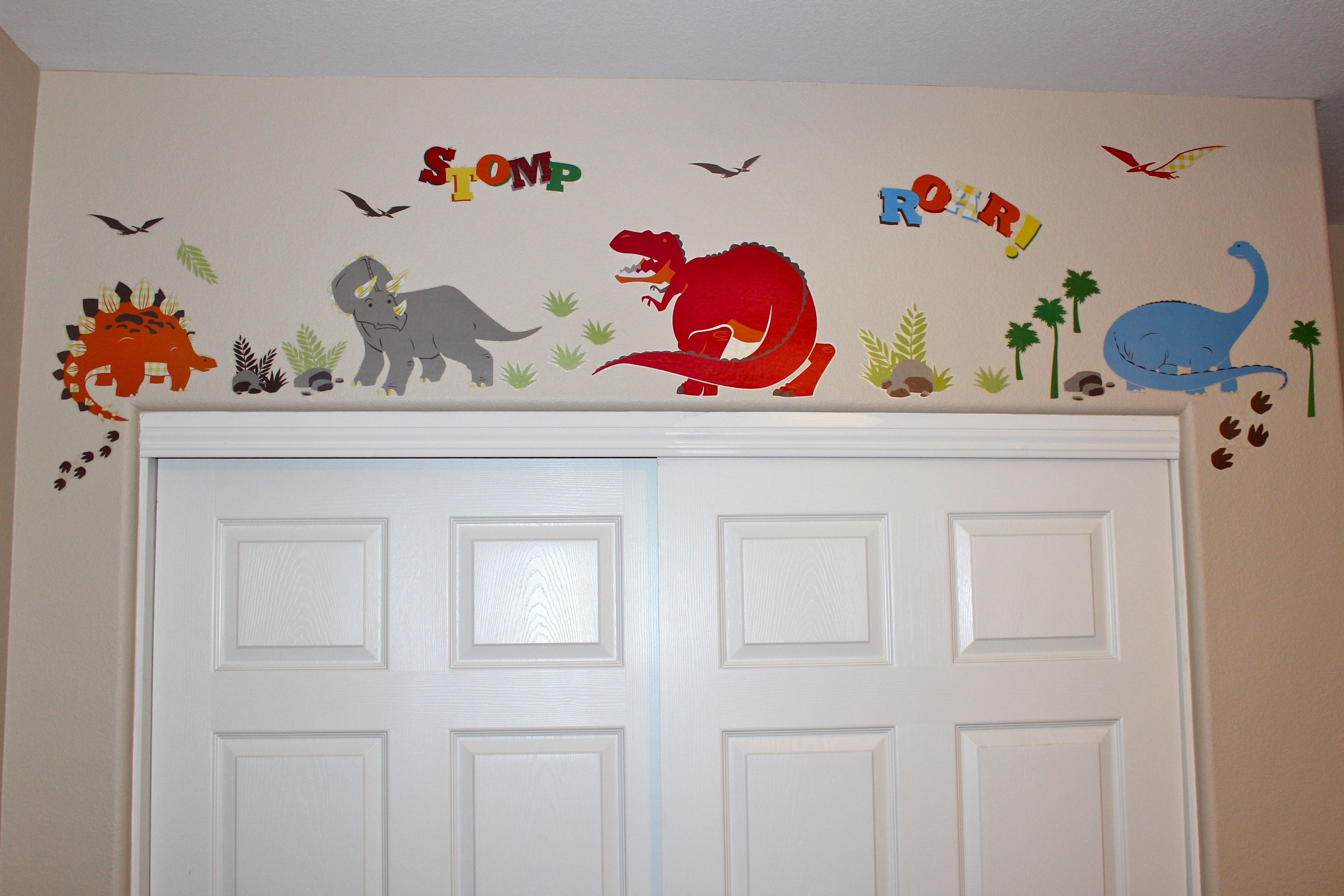 dinosaur wall decals from target big boy room ideas. Black Bedroom Furniture Sets. Home Design Ideas