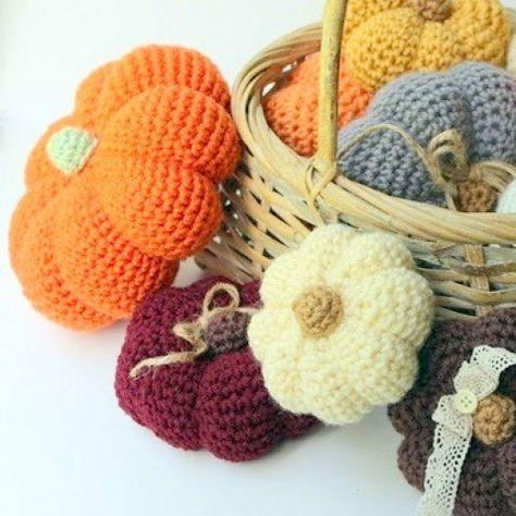 Free Crochet Pattern Amigurumi Halloween Pumpkins Crochet