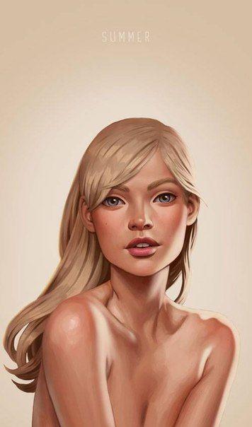 Little summer painting by Daniela Uhlig
