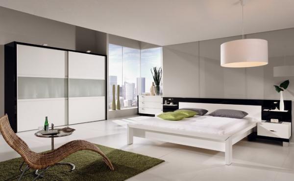 Chambre moderne blanche chambre coucher design chambre coucher chambre a coucher - Chambre parentale grise ...