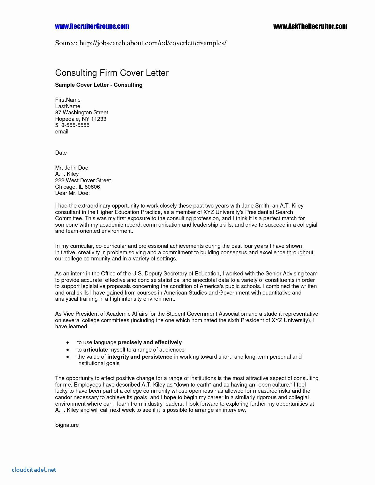 Cover Letter Template Higher Education 2 Cover Letter Template