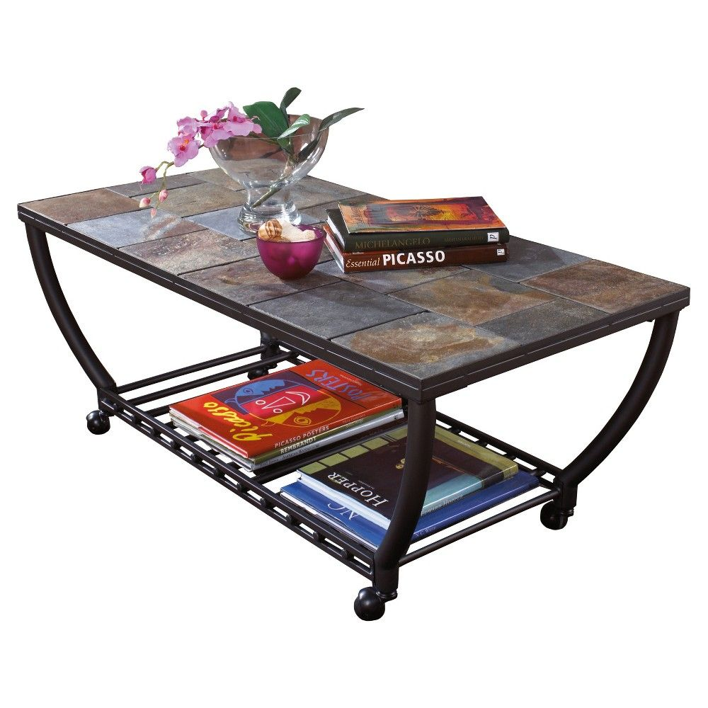 Antigo Coffee Table Black Signature Design Products Black