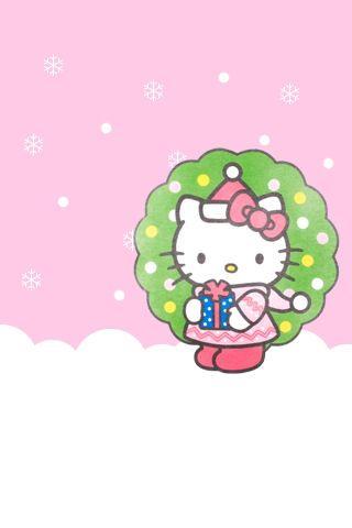 Hello Kitty Christmas Iphone Wallpaper 08 Jpg 320 480 Hello Kitty Printables Hello Kitty Christmas Hello Kitty Art