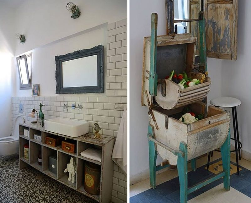 a look at the salvaged and reused items in the bathroom - Rustic Chic Bathroom Decor
