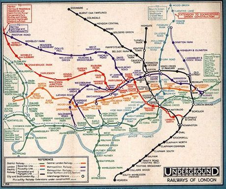 The London Tube Map A History  LBC  London Underground