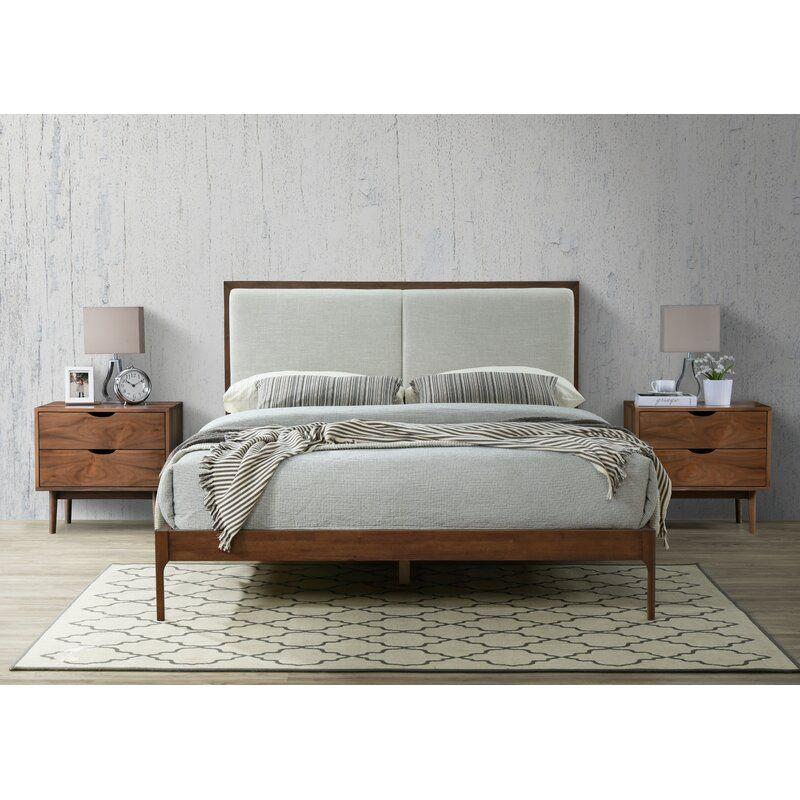 Stian Upholstered Platform Bed Allmodern Upholstered Platform Bed King Contemporary Bed Frame Upholstered Platform Bed
