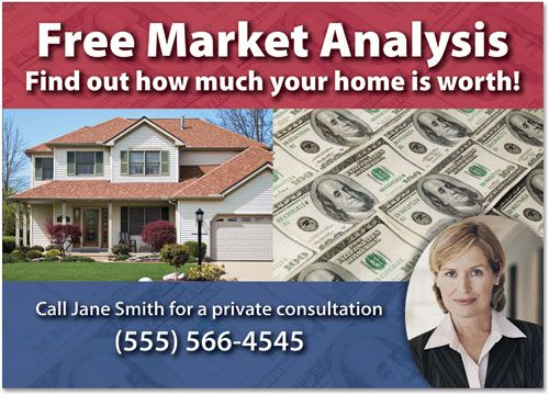 Free Market Analysis Postcard Marketing Postcards Advertising – Sample Real Estate Market Analysis