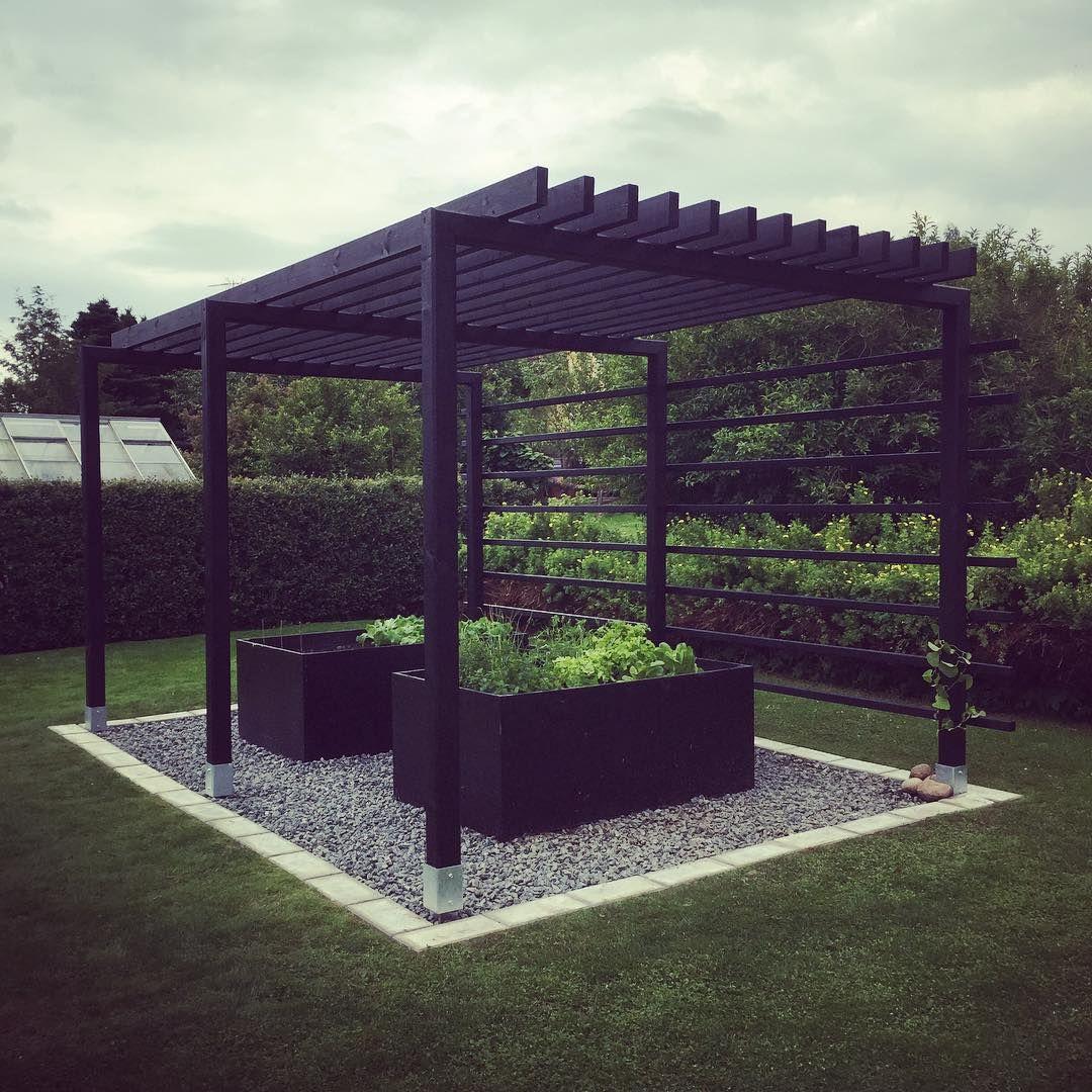 Trädgård plank trädgård : Finfin pergola fick bli helgens lilla projekt. #pergola ...