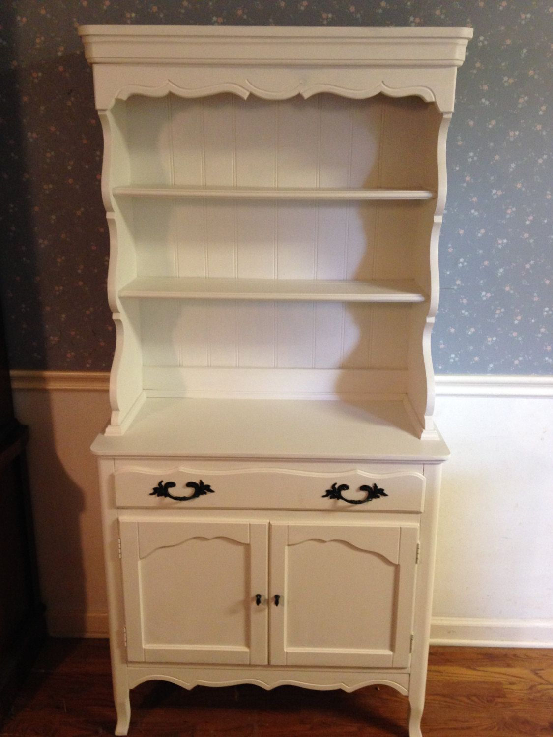 Painted Shabby Chic Hutch Vintage Country French Style Antique PRICE