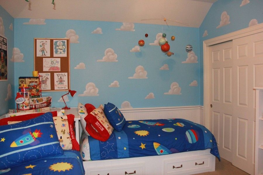 Mom Recreates Andy Toy Story Bedroom Toy Story Room Andys Room Toy Story