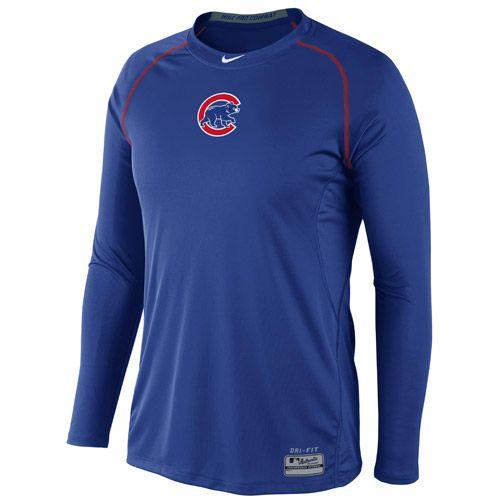 Chicago Cubs Men's AC Long Sleeve Core Raglan by Nike - MLB.com Shop
