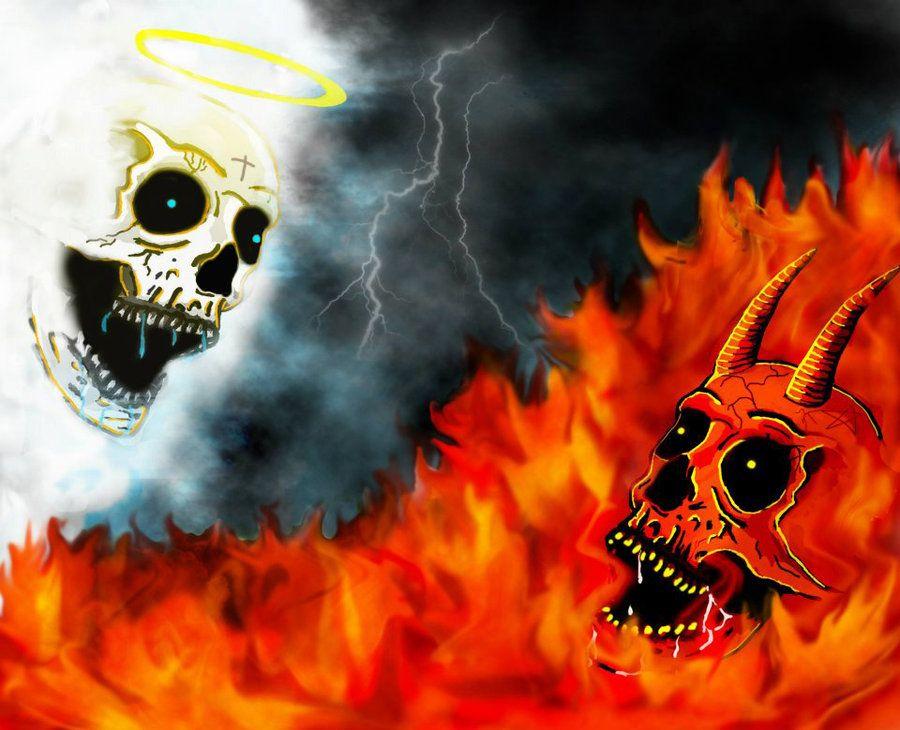 Good Vs Evil Symbols Angels Demons Four Horsemen Seven