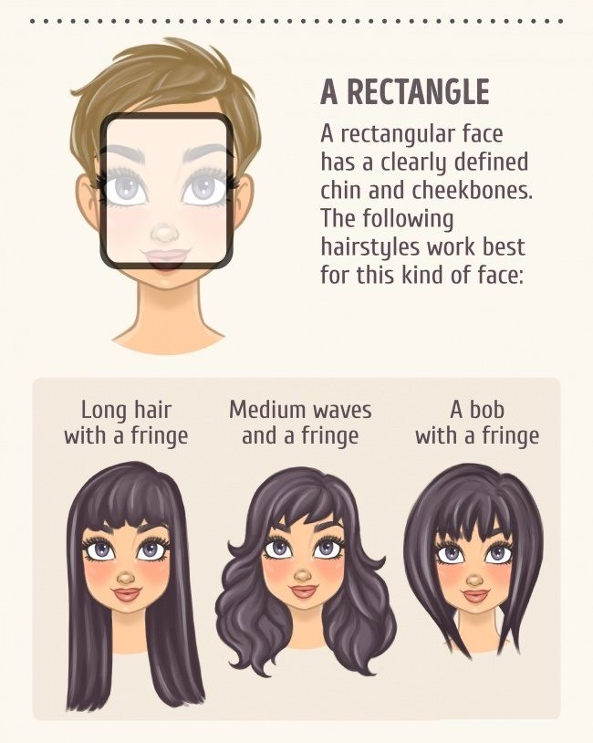 2 A Rectangle | Face Shapes in 2019 | Face shape hairstyles ...