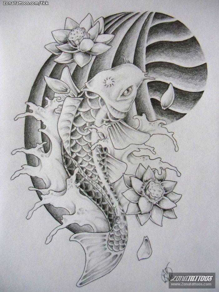 Tatuajes De Pez Koi Buscar Con Google Carpa Oriental Tatuagem Carpa Carpa Oriental Tattoo