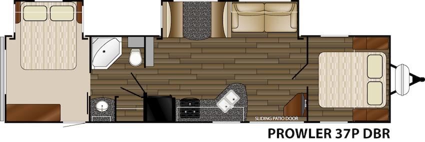 Heartland Rvs Prowler 37p Dbr Two Queen Beds Full Size Fridge Rvs Queen Beds Campfire