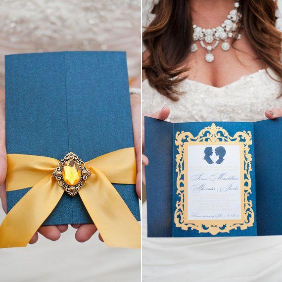 This Disney Loving Bride Threw The Most Magical Diy Wedding Huffington Post Invitationsbeauty And Beast