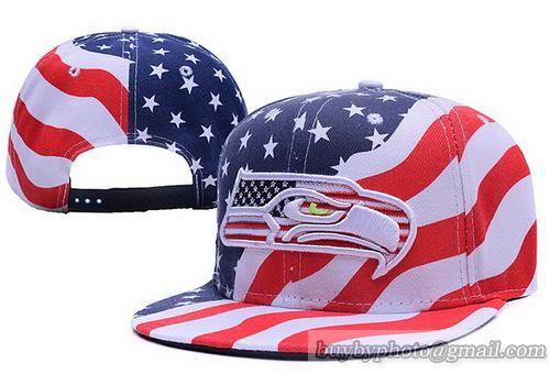 half off 86856 fc15a Cheap Wholesale NFL Seattle Seahawks USA Flag Snapback Hats ...