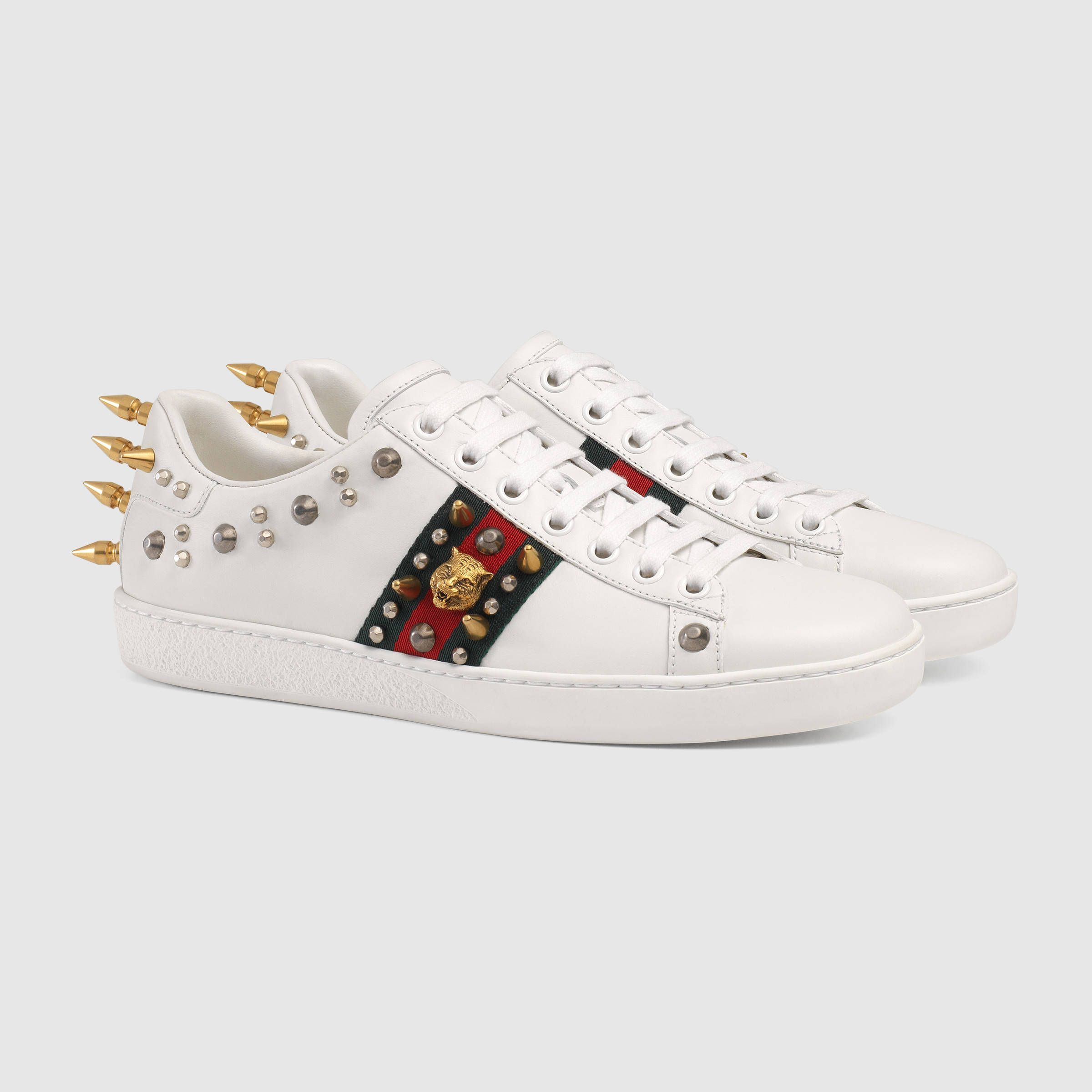 As Gucci Baskets Bas-top - Blanc YKskBpR