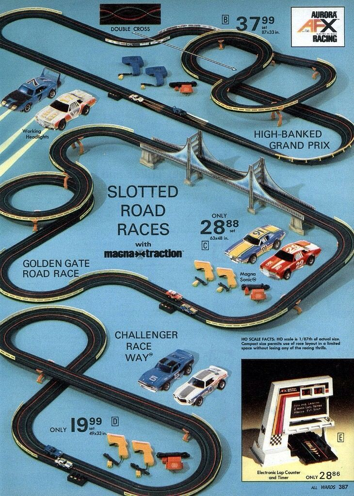 Aurora afx slot car racing trainz pinterest afx slot for Afx templates