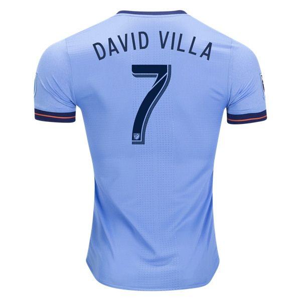 brand new 491b6 6b458 adidas David Silva New York City FC Authentic Home Jersey ...