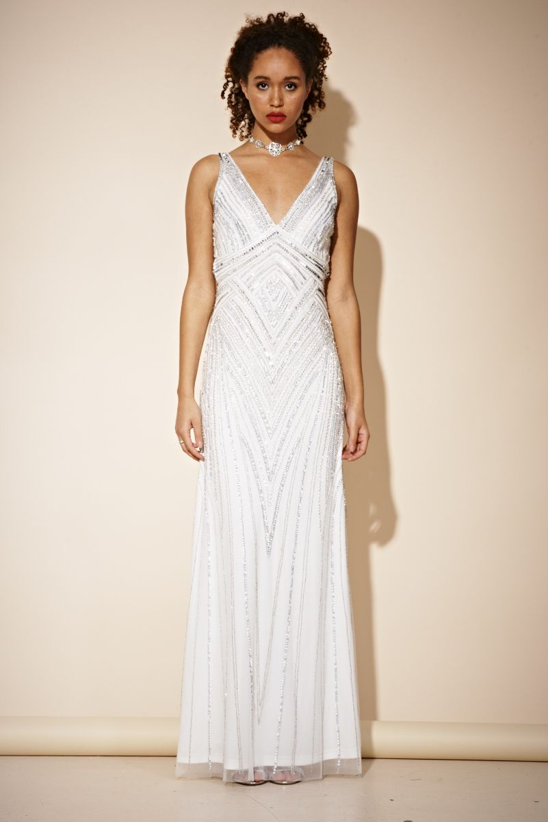 Womens Aybree Embellished Maxi Party Dress Frock and Frill Ppoq5NFV