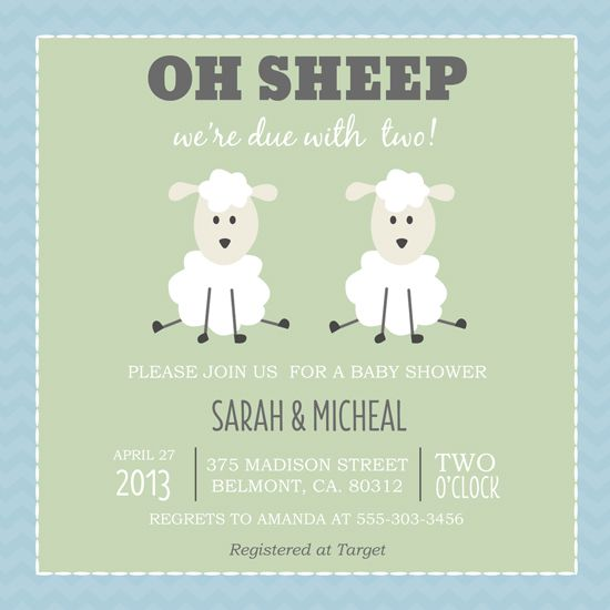 Shower Invitations · OH SHEEP By Chasity Smith