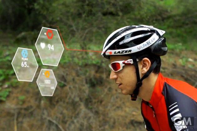 身体の状態をモニタリングする世界初スマートサイクリングヘルメット