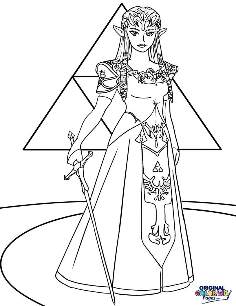 Princess Zelda Coloring Page Youngandtae Com Princess Coloring Pages Dolphin Coloring Pages Coloring Pages
