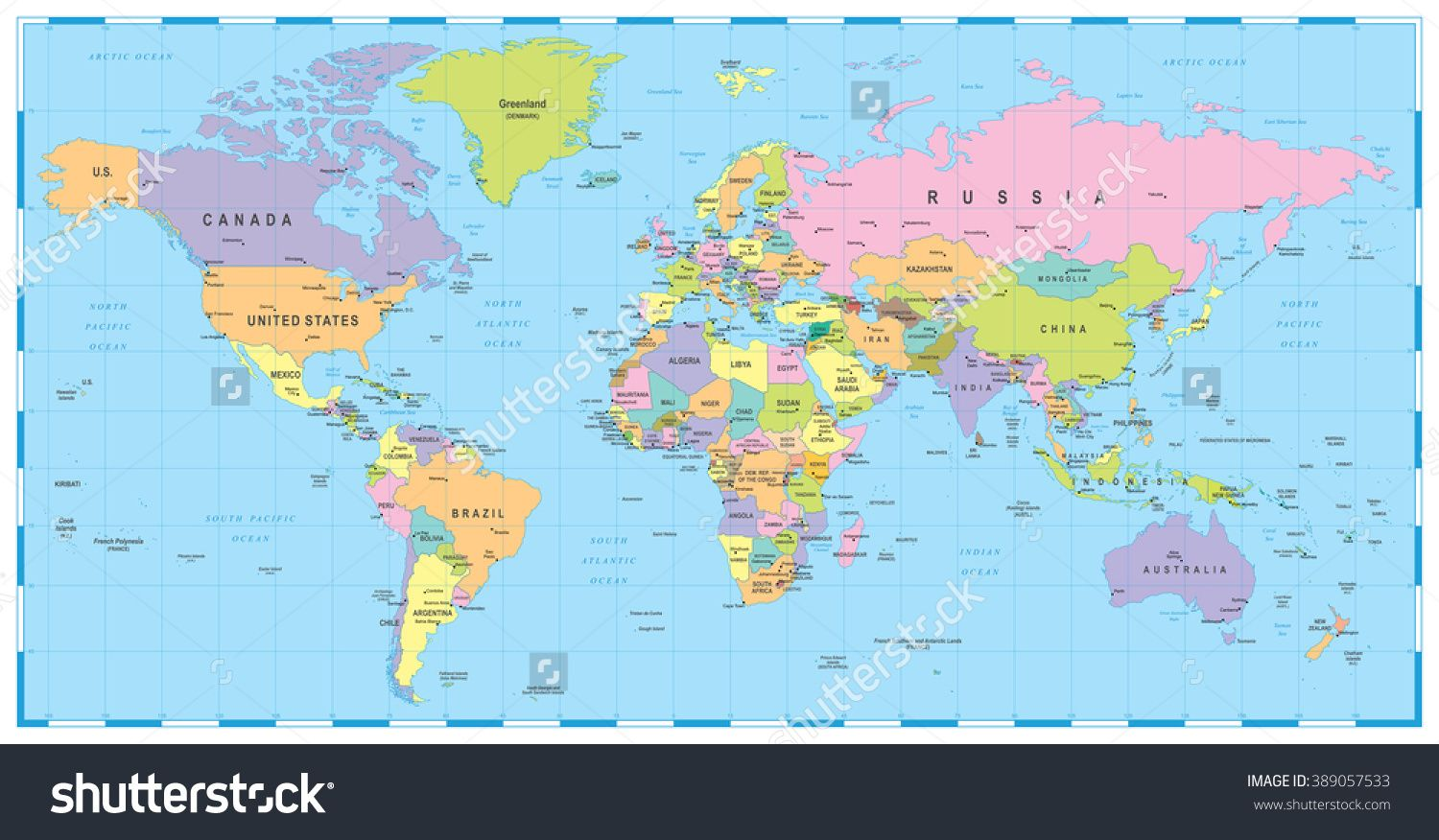 Detailed retro political world map highly detailed vector detailed retro political world map highly detailed vector illustration of world map poster retro and illustrations gumiabroncs Images