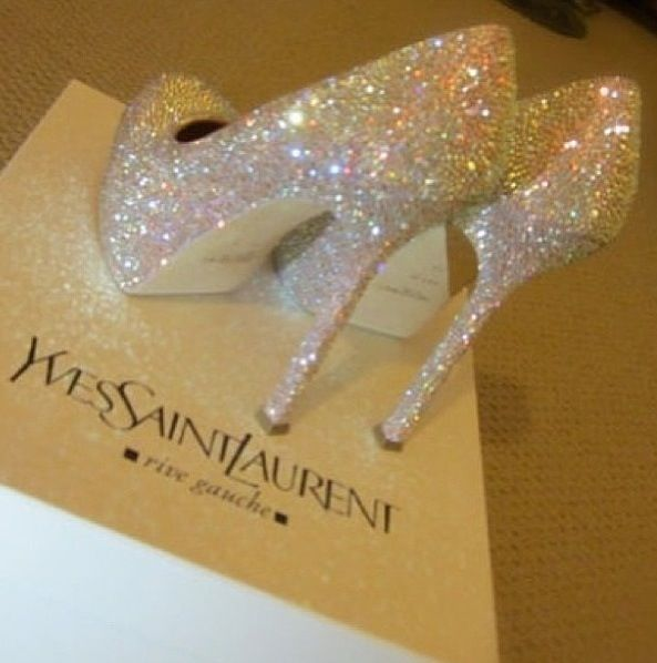 There Are 12 Tips To These Shoes Ysl Platform Talon Yves Saint Lau White Luxe Luxury Glitter Sparkle Heels Laue High