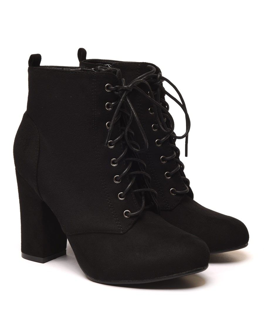 bottines lacets talons nnoirs
